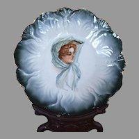 """Stunning Victorian Portrait Plate 7.5"""""""