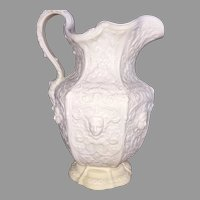 Signed Copeland Parian Ware Figural Pitcher 1847