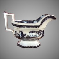 Corean Mulberry Gravy Boat Incised Maker Mark