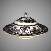 Rare PW&Co Corean Mulberry Covered Butter Dish
