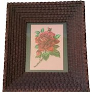 Tramp Art Chip Carved Eight Layer Picture Frame, Black Forest c. 1800s