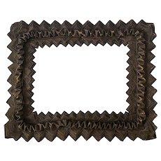 RARE Large Tramp Art Leather Frame
