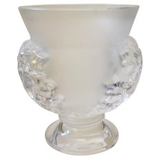 Lalique St Cloud Crystal Vase, Mint Condition