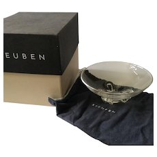 LIKE NEW Steuben Crystal Floret Bowl in Steuben Gift Box, Donald Pollard Design 1954