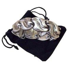 Antonio Pineda 970 Silver Modernist Bracelet, c. 1955