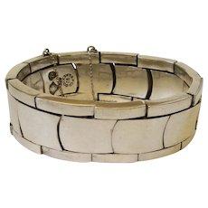 Antonio Pineda Taxco 970 Silver Modernist Link Bracelet, RARE