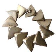 Hans Hansen Denmark Sterling Silver MidCentury Modernist Triangle Bracelet #239, Bent Gabrielsen Design