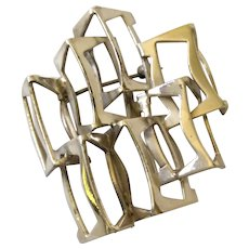 Rey Urban MidCentury Modernist Sterling Silver Brooch/Pendant for Åge Fausing, Denmark