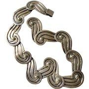 1940s Los Castillo Taxco Handwrought Sterling Silver Necklace #340, 98 Grams