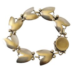 Georg Jensen Denmark Sterling Silver Art Nouveau Tulip Bracelet #93, Harald Nielsen Design