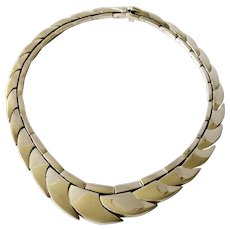 145 Grams Mexican Modernist Sterling Silver Necklace