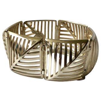 Georg Jensen Denmark Modernist Sterling Silver Bracelet #389, Nanna Ditzel Design