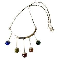 RARE MidCentury Swedish Modernist Necklace with Pendants