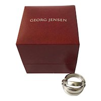 "MINT Georg Jensen Denmark Sterling Silver ""Melon"" Ring #427 in GJ Gift Box"