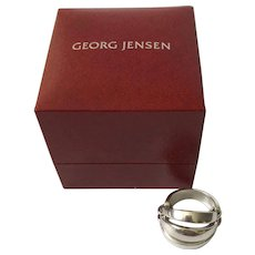 "Georg Jensen Denmark Sterling Silver ""Melon"" Ring #427"