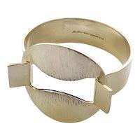 RARE Hans Hansen Denmark MidCentury Modernist Sterling Silver Bracelet #259