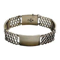Georg Jensen Denmark Sterling Silver Bracelet #62, Harald Nielsen c 1930s
