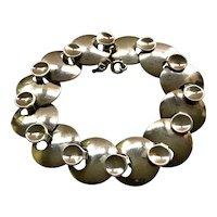 RARE Georg Jensen Denmark Modernist Sterling Silver Bracelet #172, Ibe Dahlquist Design
