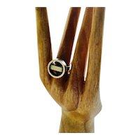 RARE Georg Jensen Denmark Modernist Sterling Silver Hoop and Bar Ring #122