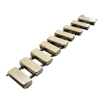 RARE Georg Jensen Denmark Modernist Sterling Silver Bracelet #184, Astrid Fog Design