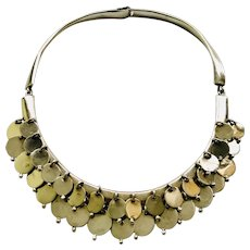 RARE William Spratling Taxco Modernist Fringe Necklace