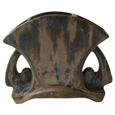 French C Greber Art Nouveau Petite Handled Pottery Vase, c. 1930