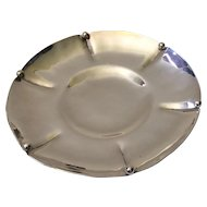 MidCentury Handcrafted Wheelock Sterling Silver Fluted Dish