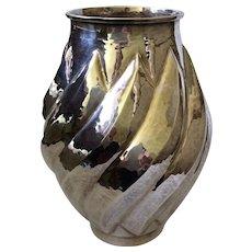 Large Emilia Castillo Hand-Hammered Silver Vase