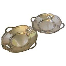Two Christofle Silverplate Platters, c 1900