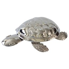 RARE Emilia Castillo Taxco MidCentury Handwrought Silver Turtle Form Bottle Opener