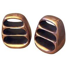 Ben Seibel MidCentury Modern Copper Bookends