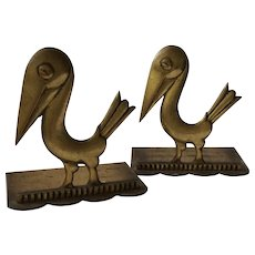 Art Deco Hagenauer Pelican Bookends, 1928