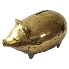 Ben Seibel MidCentury Modern Brass Piggy Bank for Jenfredware