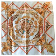 LIKE NEW Hermes Scarf: Rocaille with Hermes Box