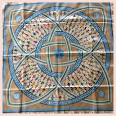 LIKE NEW Hermes Scarf: Donner La Main with Hermes Box
