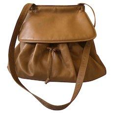 Gorgeous Bottega Veneta Italian Leather Large Drawstring Saddle Bag