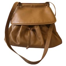 Gorgeous Bottega Veneta Italian Leather Large Drawstring Saddle Bag