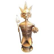 Bronze African Chieftan Statue