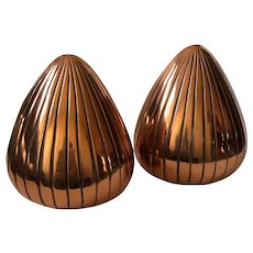 "Ben Seibel MidCentury Modernist Copper ""Seeds"" Bookends for Jenfred"