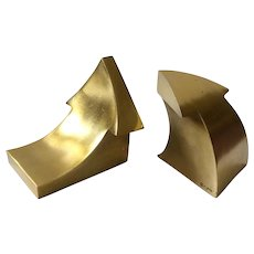 RARE C Jere MidCentury Gilt Arrow Bookends, Excellent Condition