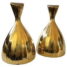 MidCentury Modern Sculptural Brass Bookends, Norman Bleckner Design for Tuscanware