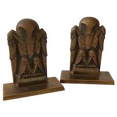Art Deco Bronze Bird Bookends