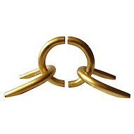 MidCentury Modernist Gilded Chain Link Bookends