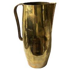RARE Hayno Focken Bauhaus Oversized Brass Pitcher/Vase c 1930s