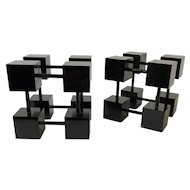 RARE Bill Curry for Design Line MidCentury Modern Cube Bookends
