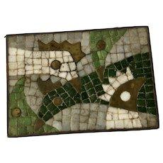 Salvador Teran Taxco MidCentury Handwrought Mosaic Brass Box #415