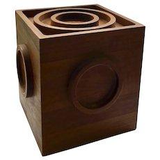 Dansk Danish MidCentury Modern Teak Cube Ice Bucket, Jens Quistgaard Design