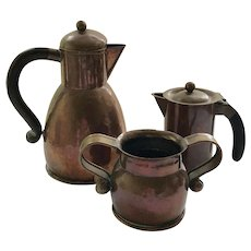 RARE Hector Aguilar Taxco Copper Coffee Serving Set, c 1940s