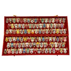 Collection of 100 Chinese Opera Mask Miniatures