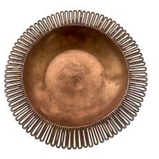 RARE Hector Aguilar Taxco Handwrought Copper Bowl, c. 1945